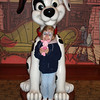 DTD - Madison with dalmation statue 12-13-05