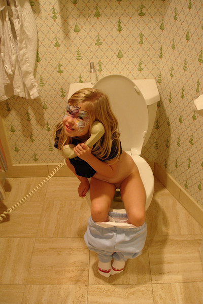 GF - Madison on the toilet phone 3 12-13-05