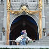 MK - Madison and Daddy in front of castle 2 12-11-05