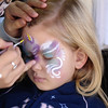 MGM - Madison getting a unicorn face paint 12-13-05