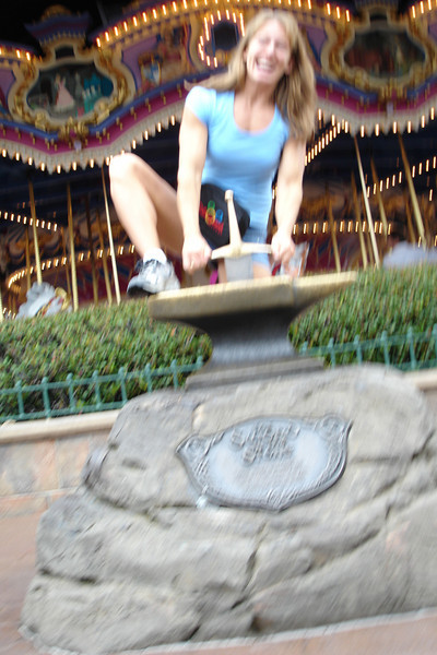 MK - Mommy trying to remove Sword in the Stone 12-9-05
