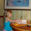 GF - Madison working on her vacation journal for school 12-9-05
