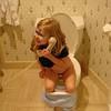 GF - Madison on the toilet phone 2 12-13-05