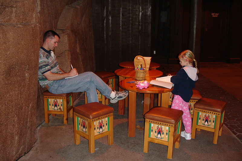 EP - Daddy and Madison working on their journals 2 12-10-05