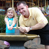 MK - Madison and Daddy trying to remove Sword in the Stone 2 12-9-05