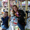 MK - Madison and Mommy on carousel 12-14-05