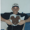 Corey and the giant Mickey chocolate head