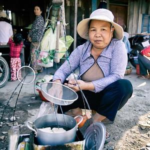 Street Food, Railway Slums, Phnom Penh.  2016.