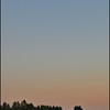 Waxing Gibbous Moon and Sunset