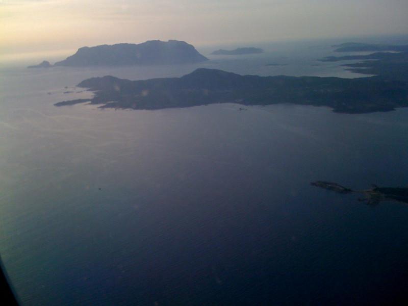 San Teodoro, tavolara, from meridiana flight to Roma