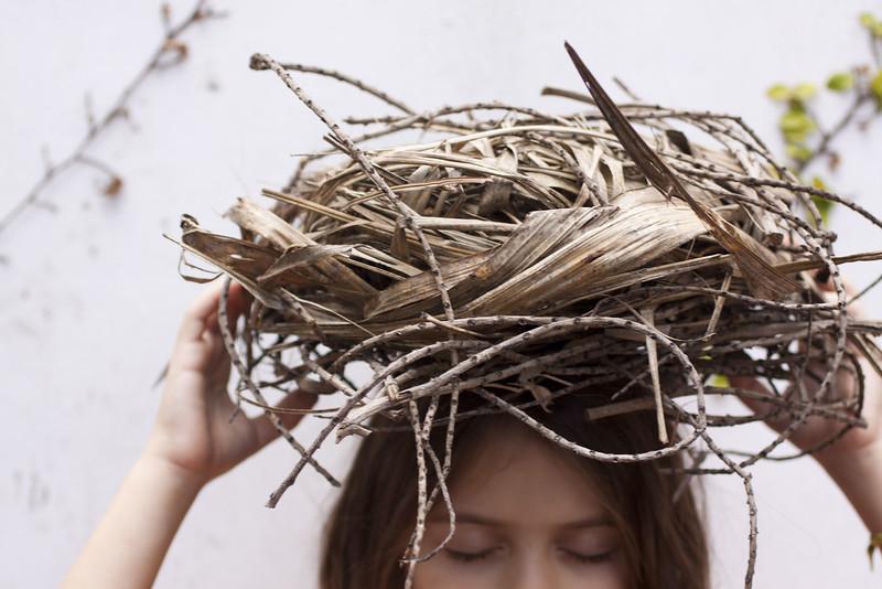 tengo un nido en mi cabeza I, 2010<br /> archival pigment print <br /> 28 x 40 inches (70 x 100 cm)