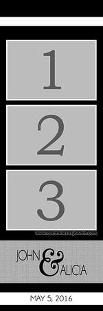 Black 3pic strip