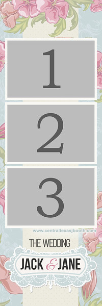 FLORAL PORTRAITE 3 pic STRIP