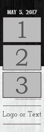 Split Black-White 3pic strip
