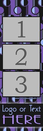 RETRO PURPLE  3pic strip