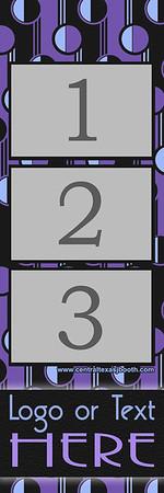 RETRO PURPLE  3pic strip