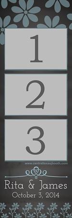 CHALKBOARD WHIMSY BLUE 3pic strip