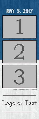 Split Blue&White 3pic strip