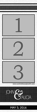 White 3pic strip