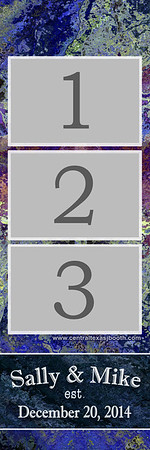 Purple Slate  3pic strip