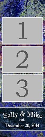 Purple Slate  3pic strip
