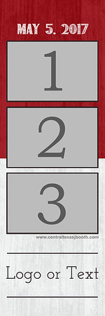 Split Red&White 3pic strip