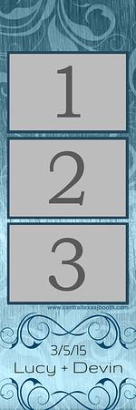 METALIC SWIRL BLUE 3pic strip