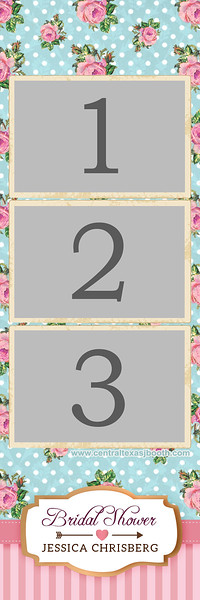 VINTAGE ROSE 3pic strip