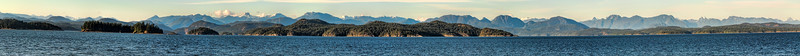 Panorama of some island and the mainland from Quadra Island