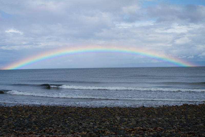 Rainbow at Qualicum Bay