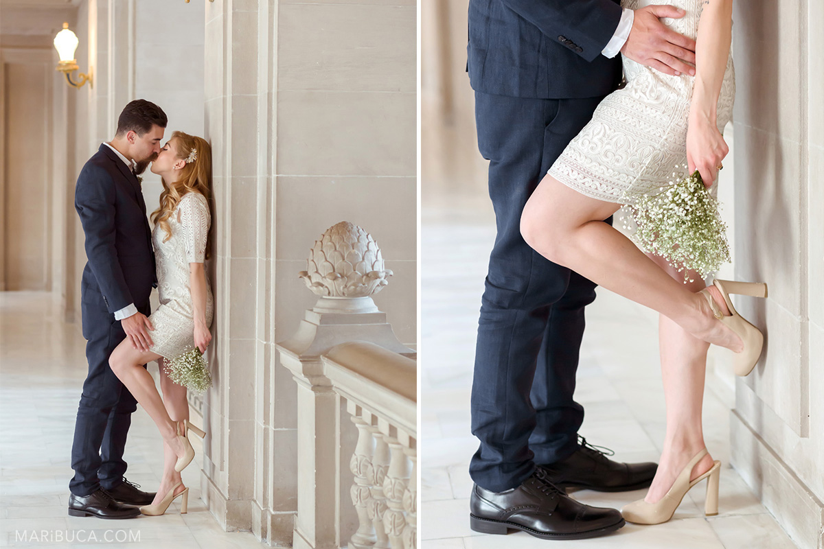 158-wedding-details-couple-looking-each-other-kissing-wedding-bouquet