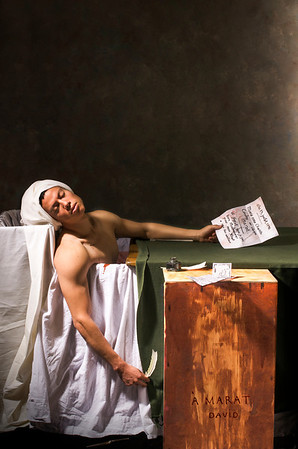 "Homage to ""The Death of Marat"" by David"