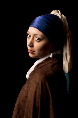 "Homage to ""Girl with the Pearl Earring"" by Vermeer"