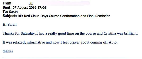 Liz, course participant