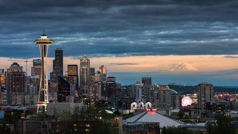Last light in Seattle