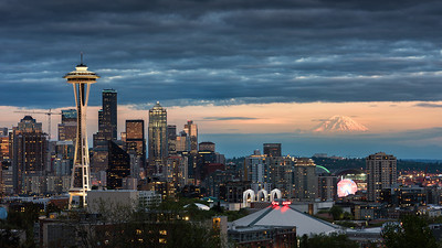 Last light in Seattle