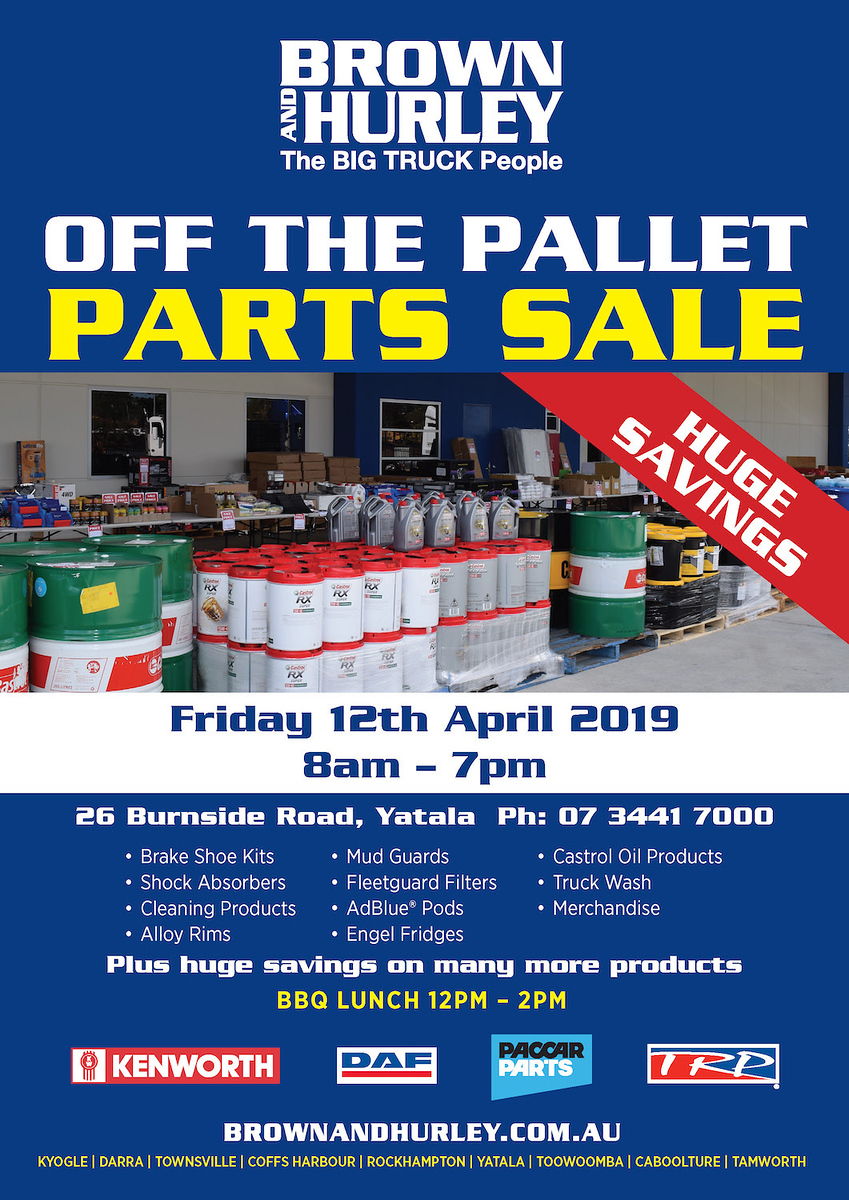 Off the Pallet Parts Sale