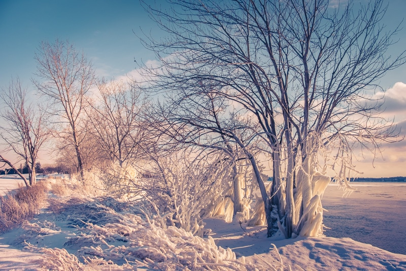 How to Edit Snowy Landscapes - Introduce the Color Cast Purle