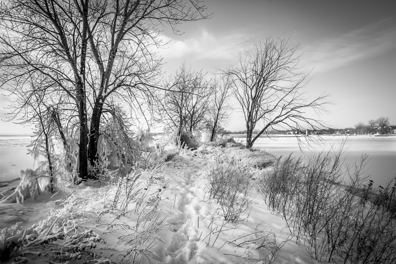 How to Edit Snowy Landscapes - Use Black & White Treatment