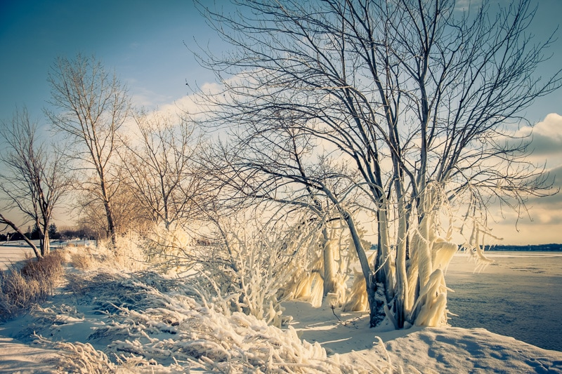 How to Edit Snowy Landscapes - Introduce the Color Cast  Yellow