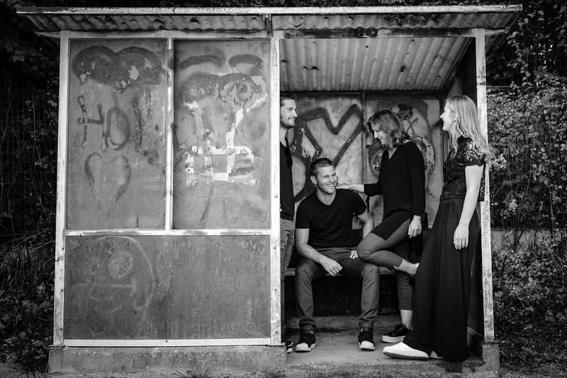 Ann, Joost, Lennart en Tess