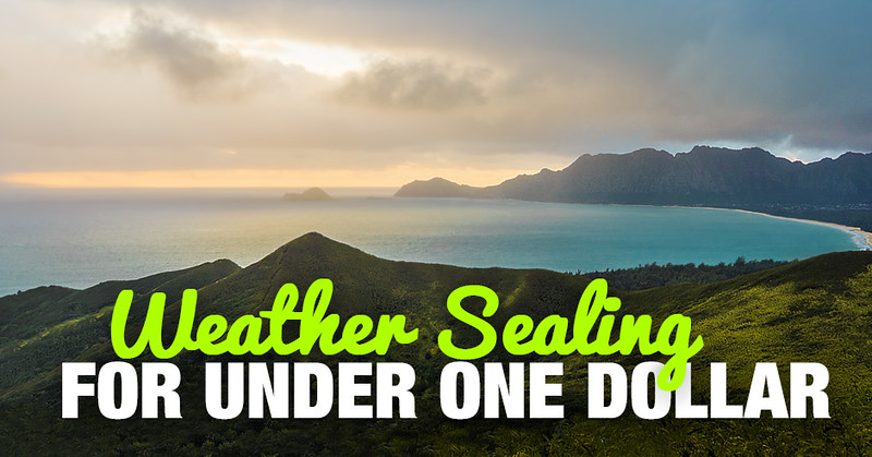 Photography Tip: How to Weather Seal Your Camera For Under 1 Dollar