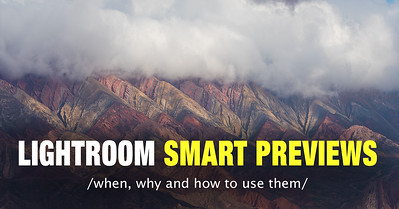 how to create and manage the smart previews in lightroom