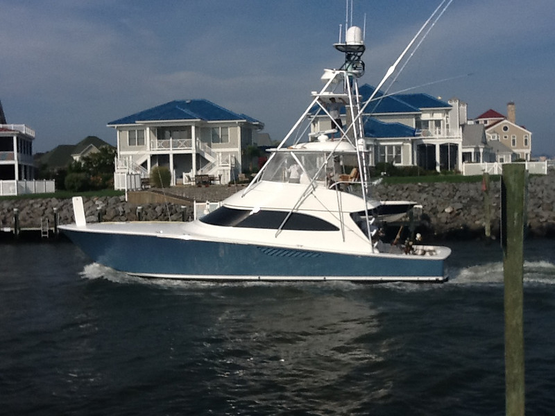 Team Galati Viking 55 coming in from a days fishing the White Marlin Open 2012