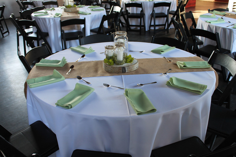 1. Pam and her support team met at RUBY about 2pm Friday to decorate for the rehearsal dinner.