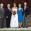 Wedding day - couple and parents