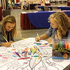 WELCA @ 2016 ELCA Churchwide Assembly and Grace Gathering<br /> <br /> Young adult voting members stopped by to chat and color.