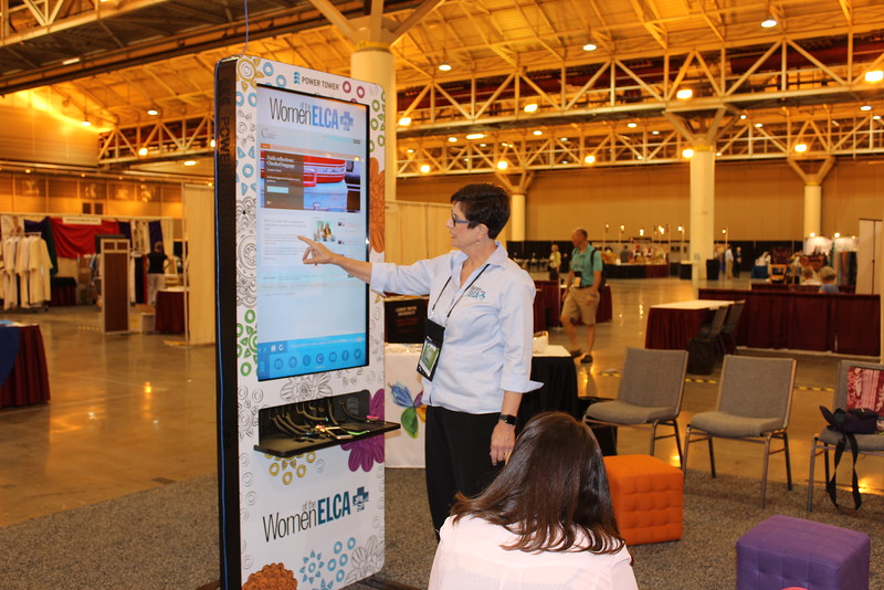 WELCA @ 2016 ELCA Churchwide Assembly and Grace Gathering<br /> <br /> Women of the ELCA staff, Terri Lackey, gave a tour of our website, boldcafe.org.