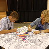 WELCA @ 2016 ELCA Churchwide Assembly and Grace Gathering<br /> <br /> A young adult voting member and his mom got into the coloring too.