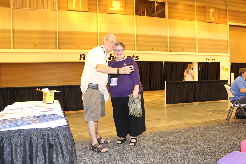 WELCA @ 2016 ELCA Churchwide Assembly and Grace Gathering<br /> <br /> The Rev. Warren Freiheit stopped by to take a selfie with Women of the ELCA executive director, Linda Post Bushkofsky.